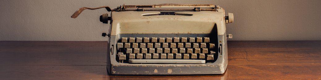מכונת כתיבה מאוד ישנה