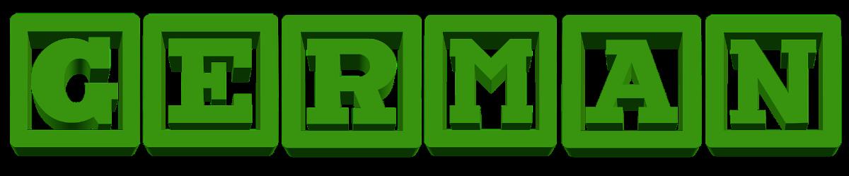 המילה גרמני בקוביות ירוקות